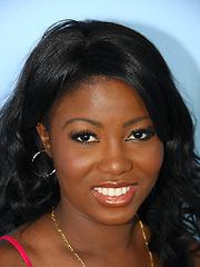 Black girl interracial gloryhole fuck & blowjob