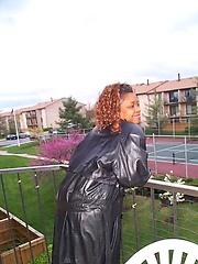 Redhead amateur ebony mom Tazina