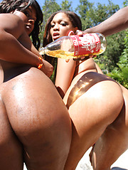 Two big booty hoes get there guts pounded!