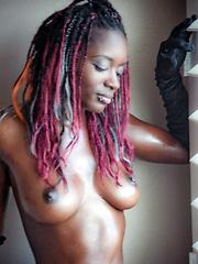 Black girls show their boobs