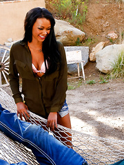 Harley Dean decides that she`s done enough hiking and breaks off from her friends in order to return to the cabin where her friend's brother is hanging out. She starts chit chatting with him and confesses that she has always found him attractive