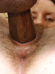 Hairy Brunette babe gets wild, wet and fucked!